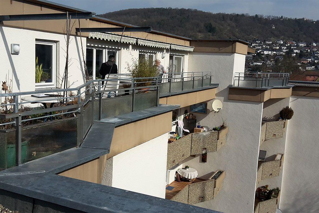 Sanierung Der Flachdacher Eines Mehrfamilienhauses Biros